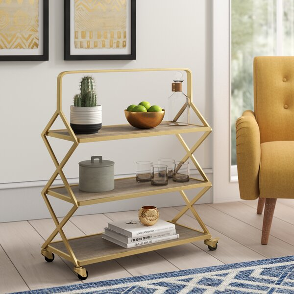 Mimms Bar Cart by Bungalow Rose Bungalow Rose