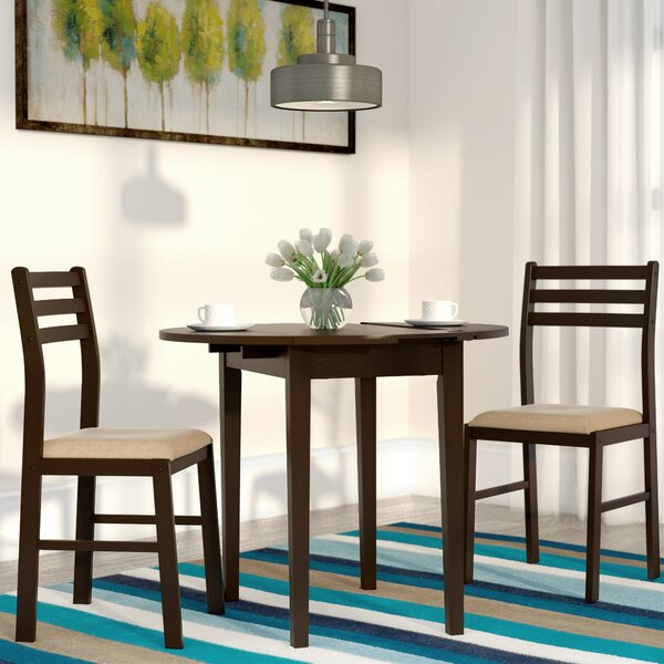 Lynbrook 3 Piece Drop Leaf Dining Set by Andover Mills Andover Mills