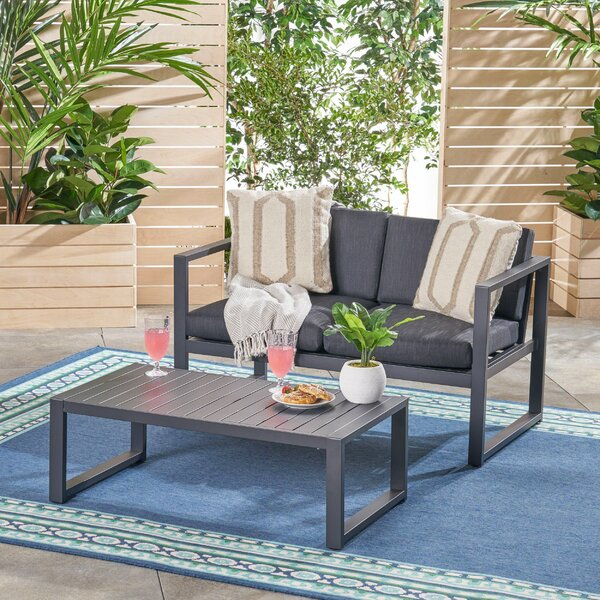 Dalveen 2 Piece Sofa Seating Group with Cushions by Ebern Designs