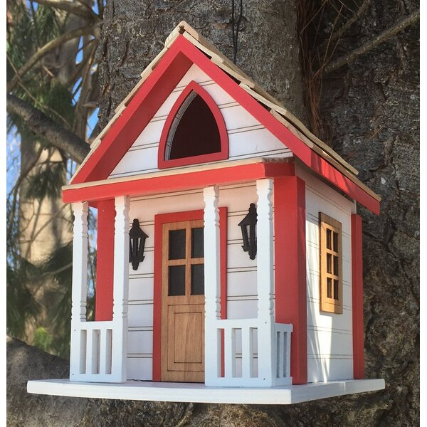 Country Charm Cottage 8 in x 6 in x 5.75 in Birdhouse by Home Bazaar