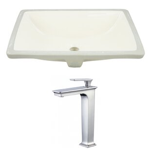 Reviews Ceramic Rectangular Undermount Bathroom Sink with Faucet and Overflow ByAmerican Imaginations
