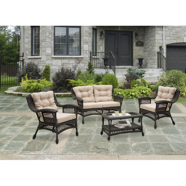 Procter 4 Piece Conversation Set with Cushions by Bungalow Rose