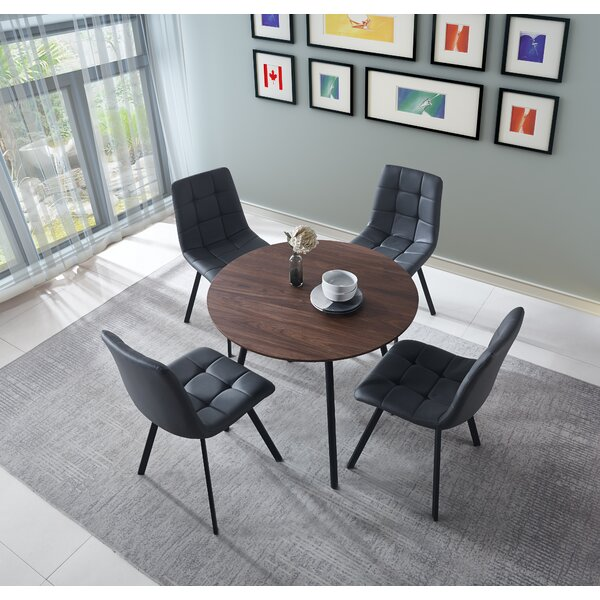 Searle Round Table and Chairs 5 Piece Standard Height Dining Set by Corrigan Studio Corrigan Studio