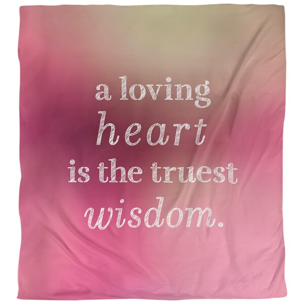 Love and Wisdom Quote Single Duvet Cover