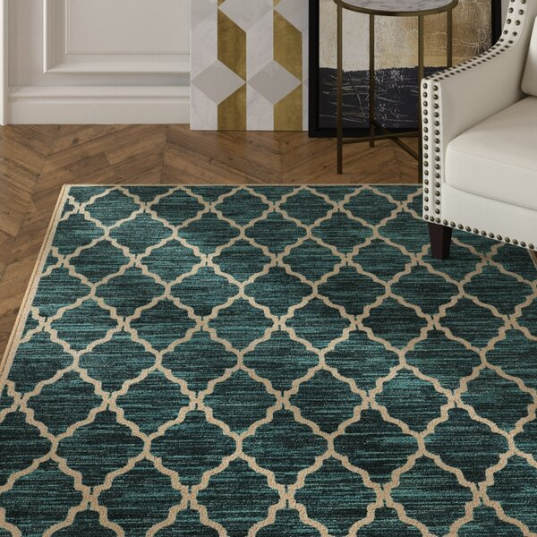 Reisman Green/Beige Area Rug by Mercer41