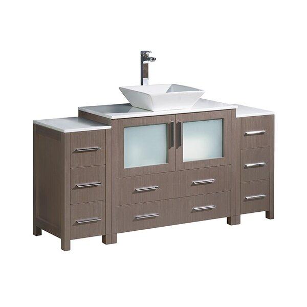 Torino 60 Single Bathroom Vanity Set by Fresca
