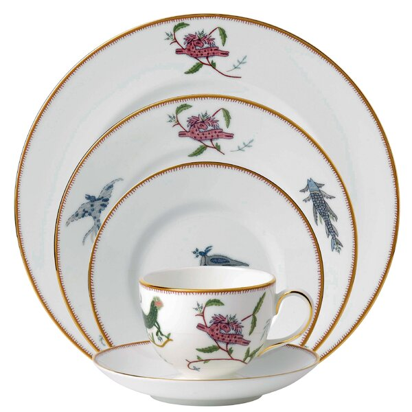 Mythical Creatures 5 Piece Bone China Place Setting Set, Service for 1
