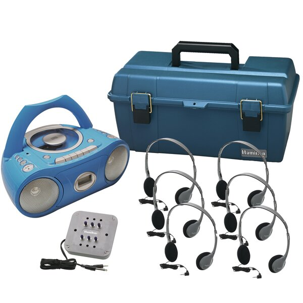 6 Person Val-U-Pack Bluetooth/CD/Cassette Listening Center by Hamilton Buhl
