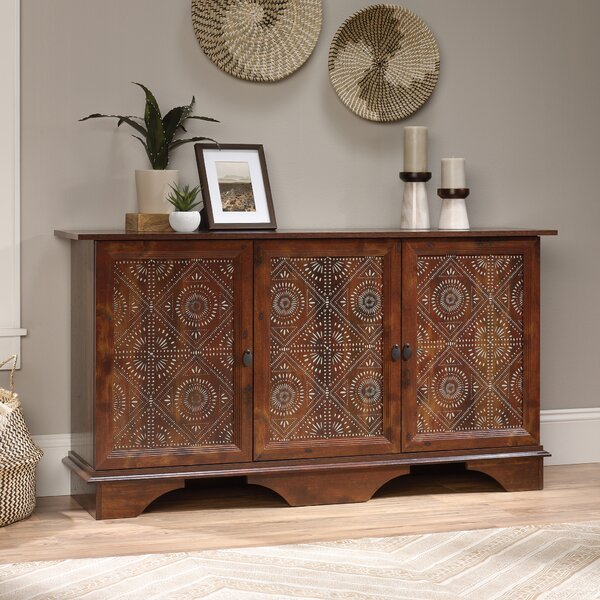 Coyne Storage 3 Door Accent Cabinet by World Menagerie