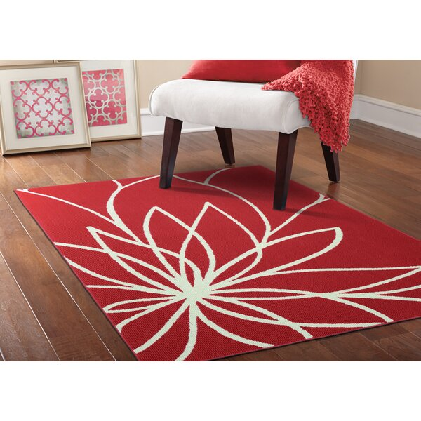 Grand Floral Coral/Ivory Area Rug by Garland Rug