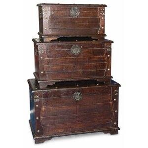 3-tlg. Holztruhen-Set von Clatin
