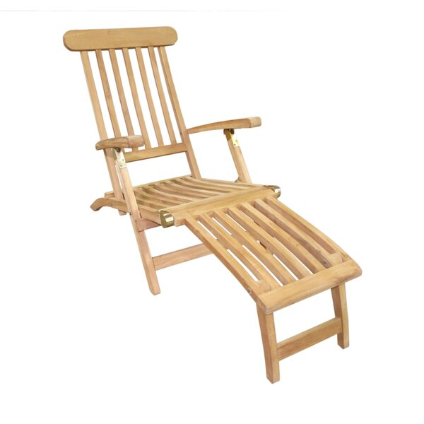 Menendez Teak Steamer Lounge Chair by Charlton Home Charlton Home
