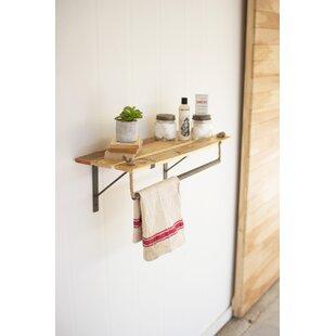 Jalyn Wood and Metal Wall Shelf