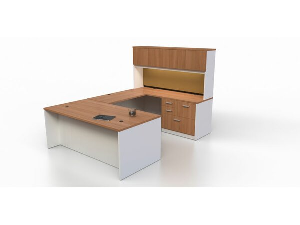 Intrinsic 4 Piece U-Shape Desk Office Suite by Trendway