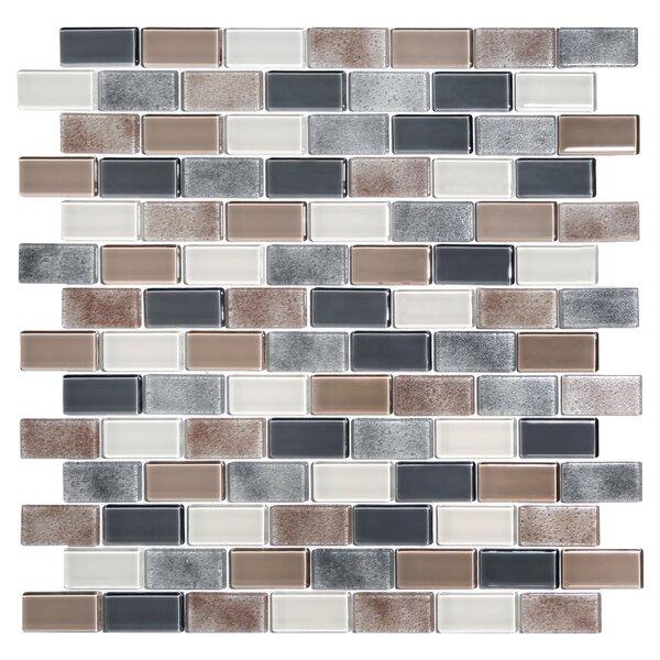 Tides 0.75 x 1.63 Glass Mosaic Tile in Cashmere by Kellani
