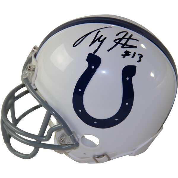T.Y Hilton Signed Indianapolis Colts Riddell Mini Helmet by Steiner Sports