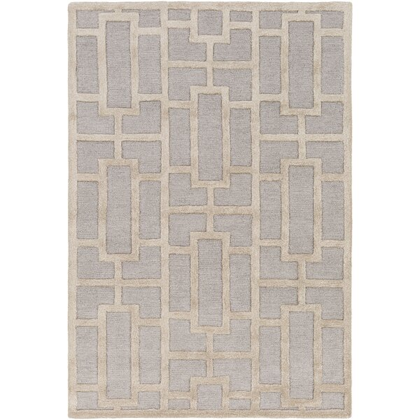 Perpetua Hand-Tufted Light Blue/Beige Area Rug by Mercer41
