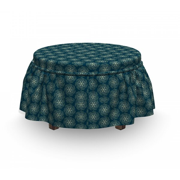 Geometric Swirls Ottoman Slipcover (Set Of 2) By East Urban Home