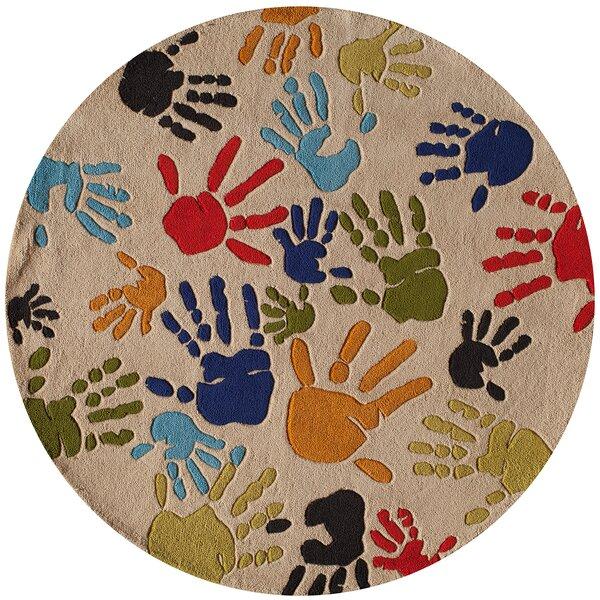 Johnnie Hand-Tufted Beige Kids Rug by Viv + Rae