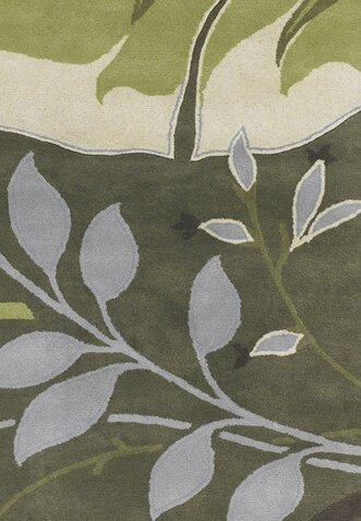 Kruger Green Area Rug by Bay Isle Home