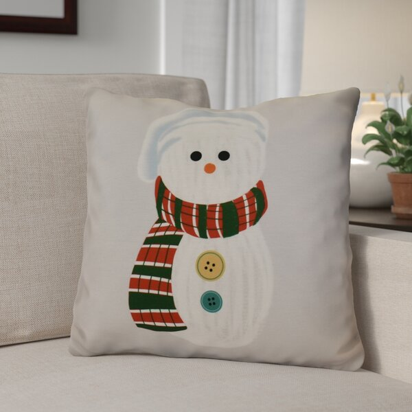 Sock Snowman Outdoor Throw Pillow by The Holiday Aisle
