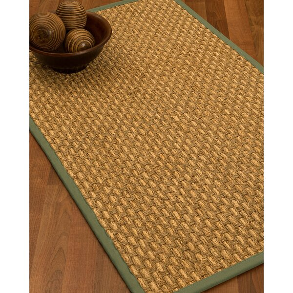 Castiglia Border Hand-Woven Beige/Slate Area Rug by Highland Dunes
