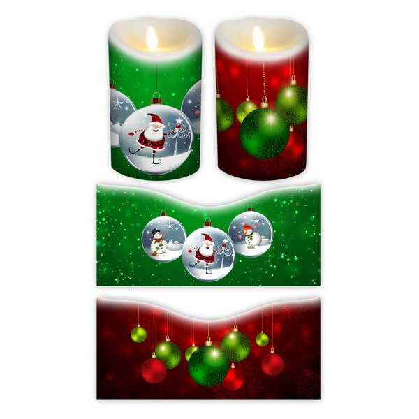 Holiday Votive Candle Wrap (Set of 2) by Flameless Decor