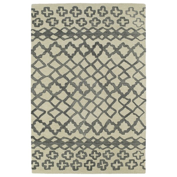 Zack Gray Geometric Area Rug by Wrought Studio