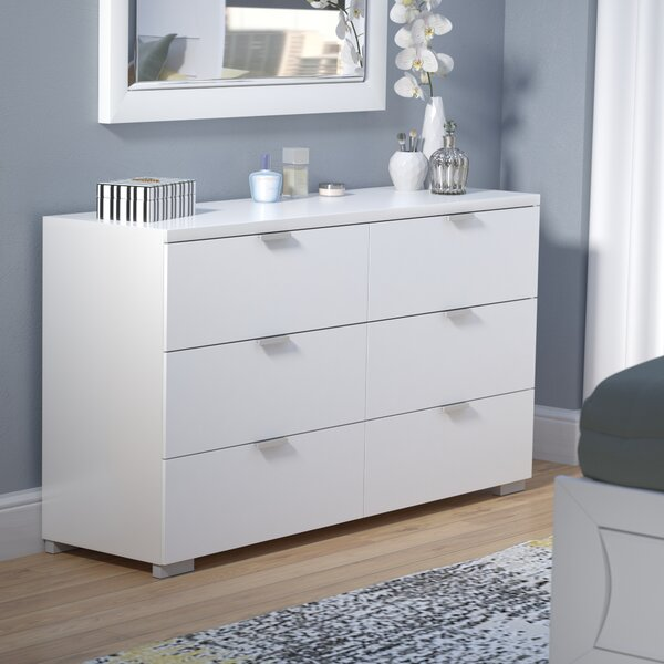 Louie 6 Drawer Double Dresser by Wade Logan