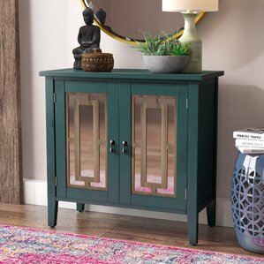 mueller wood door console table