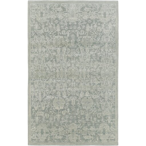 Chebanse Hand-Knotted Moss/Beige Area Rug by Darby Home Co