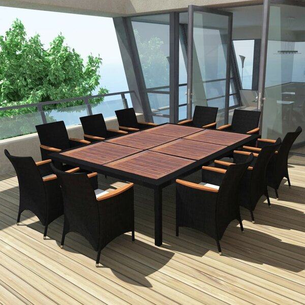 Rood Outdoor 11 Piece Dining Set With Cushions By Orren Ellis