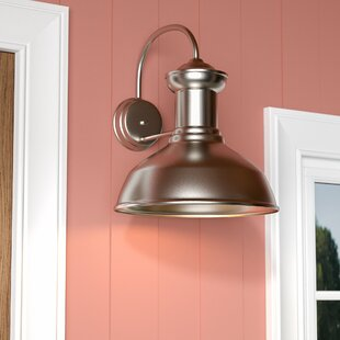Affordable Price Vallie 1-Light Aluminum Shade Outdoor Barn Light By Laurel Foundry Modern Farmhouse