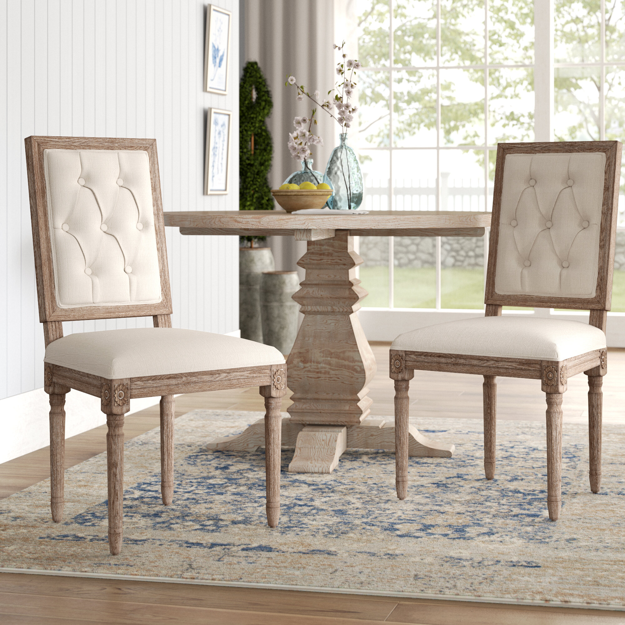 Patillo Tufted Square Back Upholstered Dining Chair