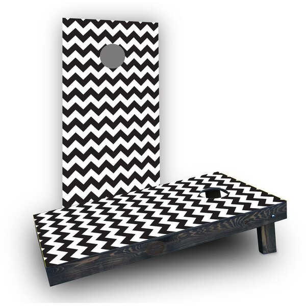 Chevron Pattern Cornhole Boards (Set of 2) by Custom Cornhole Boards