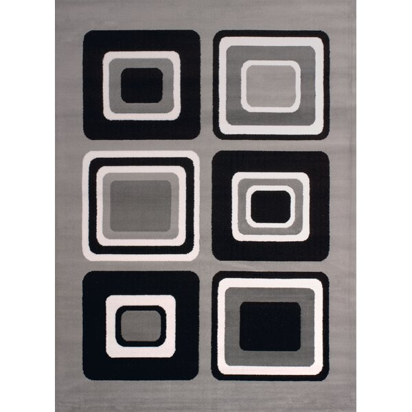 Dallas Spaces Gray/Black Area Rug by United Weavers of America