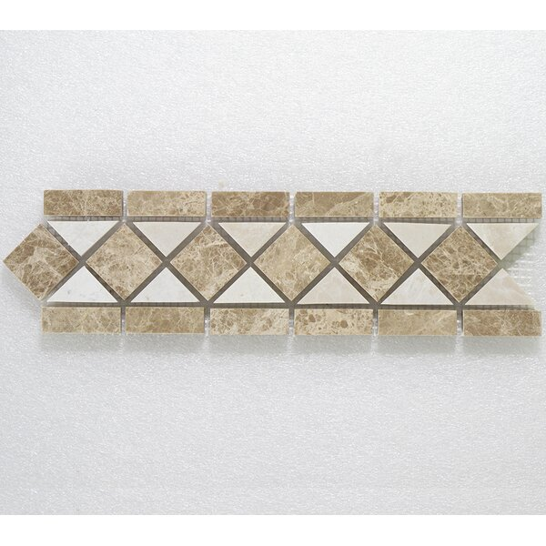 Botticino Classic 3.25 x 12 Marble Decorative Mosaic Tile In Brown by Seven Seas