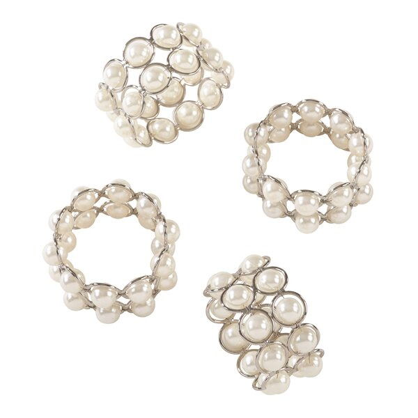 Pearl Wedding Event Iron Napkin Ring (Set of 4) by House of Hampton