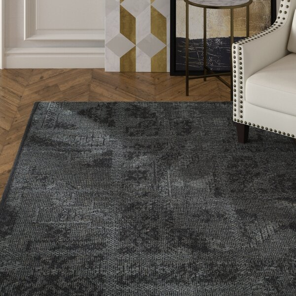 Chipping Ongar Black / Grey Area Rug by House of Hampton
