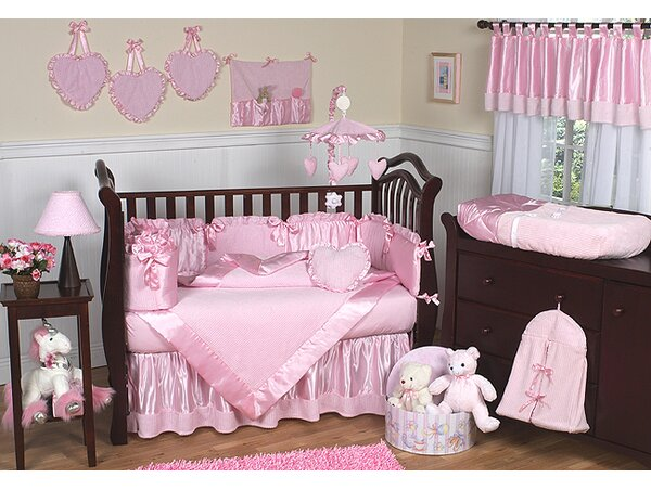 Pink Chenille 9 Piece Crib Bedding Set by Sweet Jojo Designs