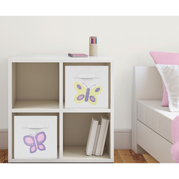Butterfly Fabric Storage Cube by Sweet Jojo Designs