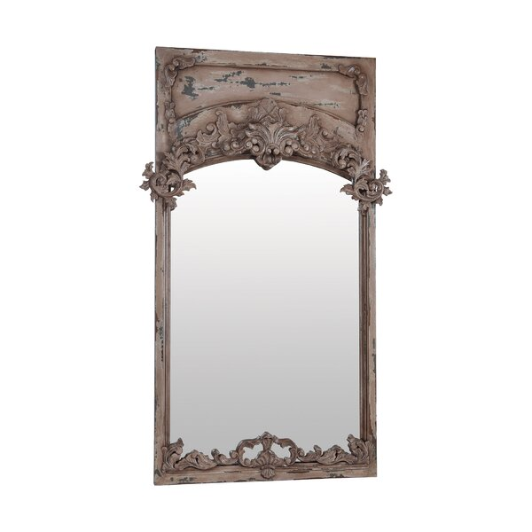 Carved Euro Plaster Full Length Wall Mirror by One Allium Way