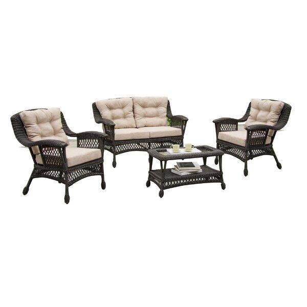 Viva 4 Piece Sofa Set with Cushions by Best Desu, Inc.