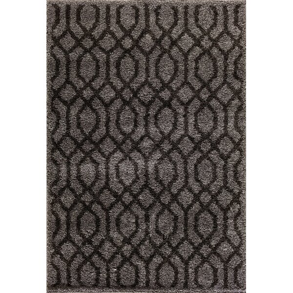 Hamilton Silver/Black Area Rug by Threadbind