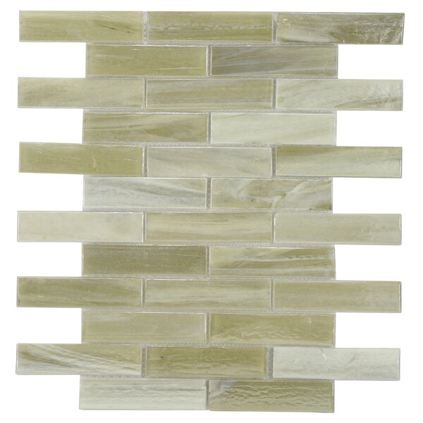 Laguna Glass Mosaic Tile in Light Yellow by Byzantin Mosaic