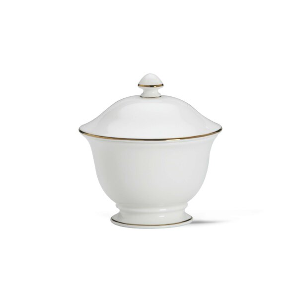 Continental Dining Gold Sugar Bowl with Lid by Lenox
