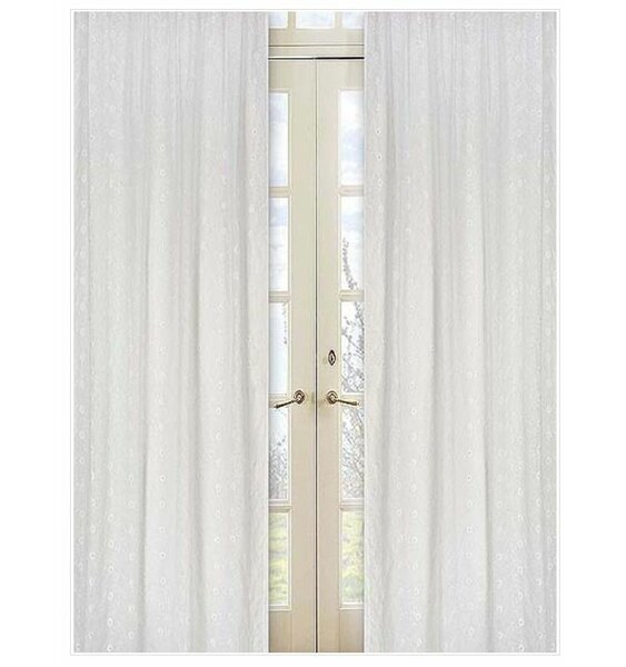 Nature/Floral Semi-Sheer Rod Pocket Curtain Panels (Set of 2) by Sweet Jojo Designs