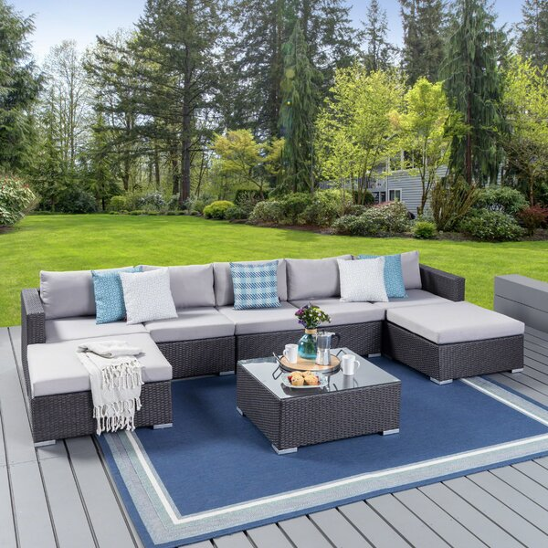 Cabral 8 Piece Sectional Seating Group with Cushion by Sol 72 Outdoor