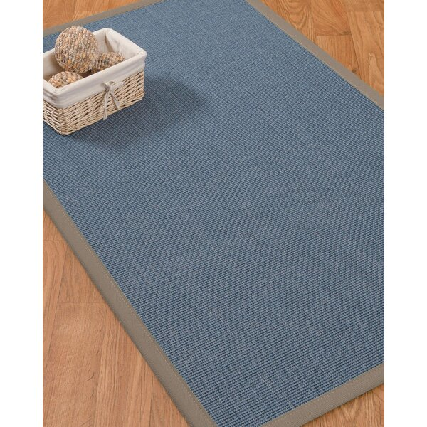 Ivy Border Hand-Woven Gray/Stone Area Rug by Bloomsbury Market