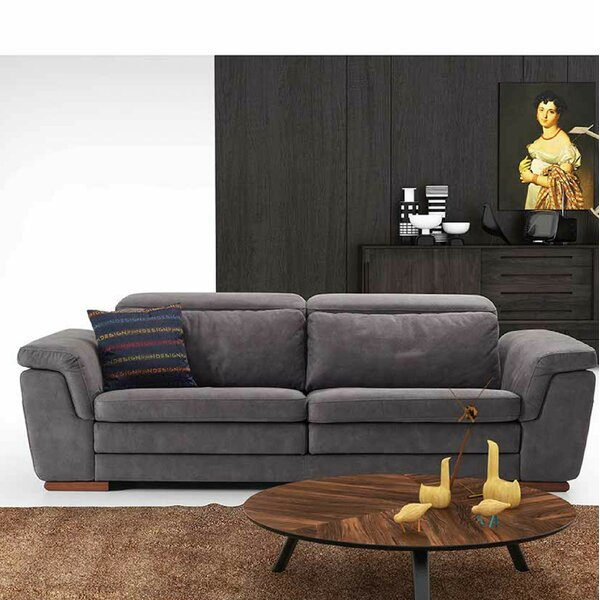 Crittenden Leather Loveseat by Orren Ellis